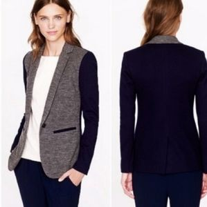 J CREW Wool cotton blend blazer hazel gray 10